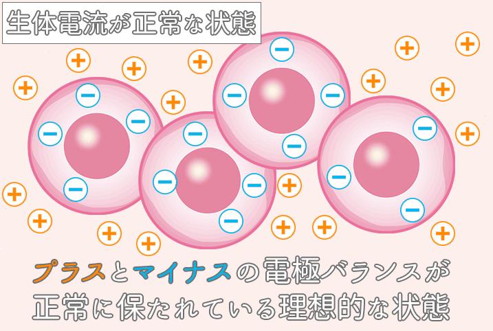 生体電流が正常な状態